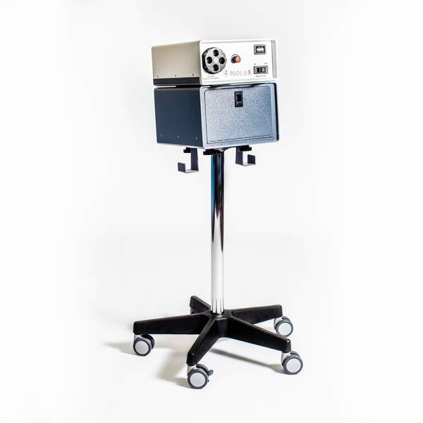 IsoLux 300W Xenon Fiber Optic Surgical Light Source Illuminator On Cart