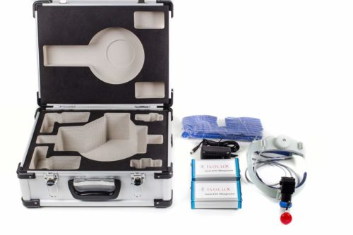 Isolux Magnum Battery Surgical Headlamp System and case Display
